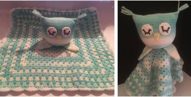 snoozy owl crocheted lovey | the crochet space