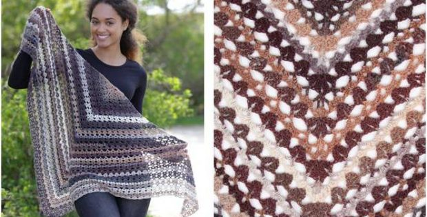 vintage chic crocheted shawl | the crochet space