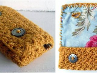 vintage style crocheted phone case   the crochet space