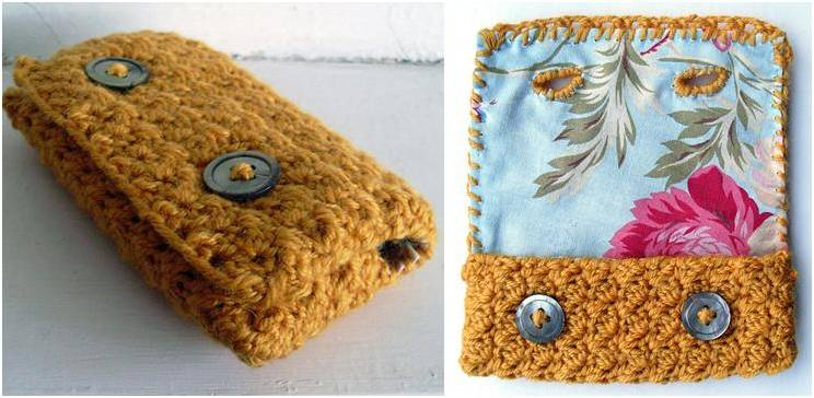 vintage style crocheted phone case | the crochet space