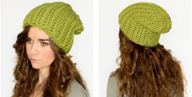 Willow Tree Crocheted Slouchy Beanie [FREE Crochet Pattern] Awesome Free Slouchy Beanie Crochet Pattern